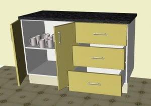 Doors Open in Cabinet