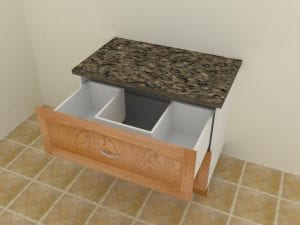 Sink Drawer in CabMaster